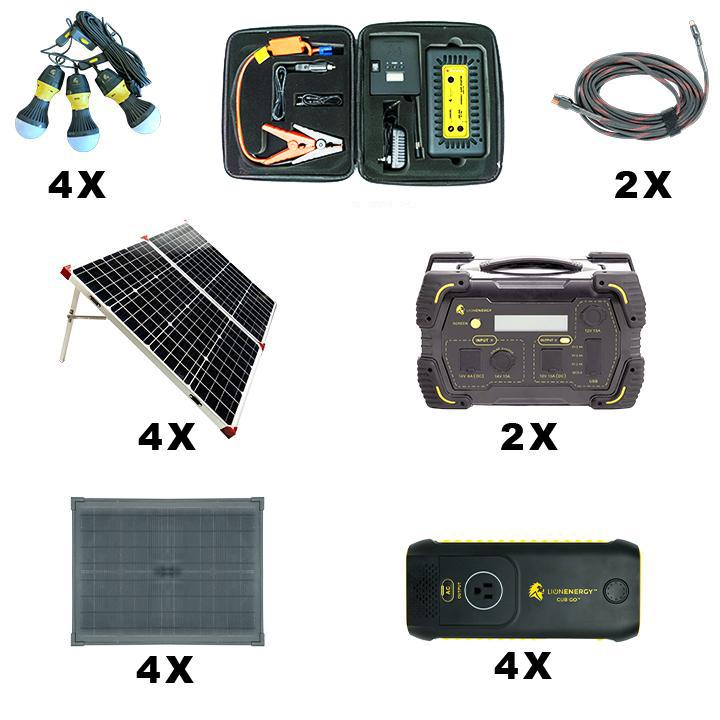 Lion Energy Disaster Prep Solar Power Station Kit