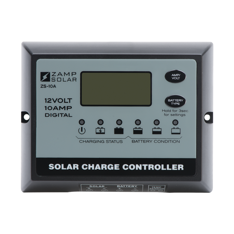 Zamp Solar 10-Amp 5-Stage PWM Charge Controller