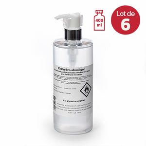 Gel Hydroalcoolique x6<br/>Flacon 400ml