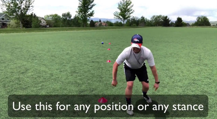 Best Conditioning Drill for Kids - Youth Flag Football Speed and Agility Drills - 5 Yard Stance Sprints