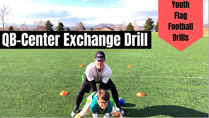Youth Flag Football Drill | QB - Center Exchange Drill | Beginner Drills