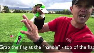 Flag Football Drill - Shuffle Pull - Flag pulling and shuffling drill | #1 Flag Football Drill