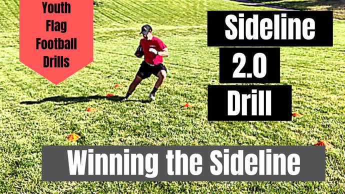 Youth Flag Football Drill | Win the Sideline and Score More TDs | Stay in bounds!!