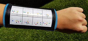Wristband Interactive Y23 - Football Wristbands - Wrist Coach - QB Wristband - Football Play Wristbands - Playbook Wristband (Light Blue, 5 Pack)