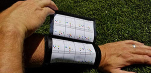 Wristband Interactive Adult Football Wristbands - Wrist Coach for Quarterbacks - Football Play Wristbands - 5 Pack
