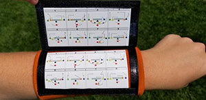 Wristband Interactive Y23 - Football Wristbands - Wrist Coach - QB Wristband - Football Play Wristbands - Playbook Wristband (Orange, 8 Pack)