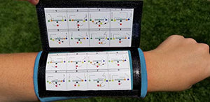 Wristband Interactive Y23 - Football Wristbands - Wrist Coach - QB Wristband - Football Play Wristbands - Playbook Wristband (Light Blue, 8 Pack)