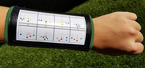 Wristband Interactive Y23 - Football Wristbands - Wrist Coach - QB Wristband - Football Play Wristbands - Playbook Wristband - (Green, 5 Pack)