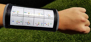 Wristband Interactive Y23 - Football Wristbands - Wrist Coach - QB Wristband - Football Play Wristbands - Playbook Wristband (Grey, 5 Pack)