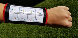 Wristband Interactive Y23 - Football Wristbands - Wrist Coach - QB Wristband - Football Play Wristbands - Playbook Wristband (Multicolored, 8 Pack)