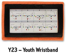 Load image into Gallery viewer, Wristband Interactive Y23 - Football Wristbands - Wrist Coach - QB Wristband - Football Play Wristbands - Playbook Wristband (Orange, 8 Pack)