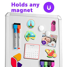 Load image into Gallery viewer, Magnetic 11'' x 14'' Small Dry Erase Board. Includes 6 Magnetic Dry Erase Markers, Assorted Colors. Great Whiteboard for Fridge, Locker, and More!