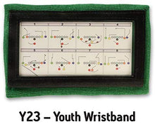 Load image into Gallery viewer, Wristband Interactive Y23 - Football Wristbands - Wrist Coach - QB Wristband - Football Play Wristbands - Playbook Wristband - (Green, 5 Pack)