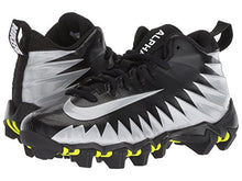 Load image into Gallery viewer, Nike Kid's Alpha Menace Shark BG Football Cleats (4.5 M US Big Kid, Black/White/Metallic Silver)