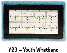 Load image into Gallery viewer, Wristband Interactive Y23 - Football Wristbands - Wrist Coach - QB Wristband - Football Play Wristbands - Playbook Wristband (Light Blue, 5 Pack)