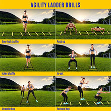 Load image into Gallery viewer, Yes4All Agility Ladder – Speed Agility Training Ladder with Carry Bag – 12 Rung (Yellow)