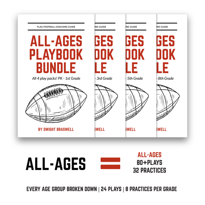 Coach D's All-Ages Playbook Bundle (24 Plays + 8 Practices per age group)