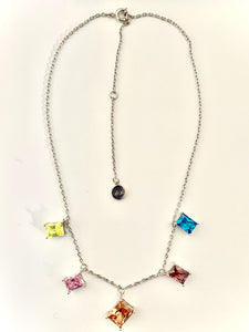 Anita Cubic Zirconia Stone Necklace