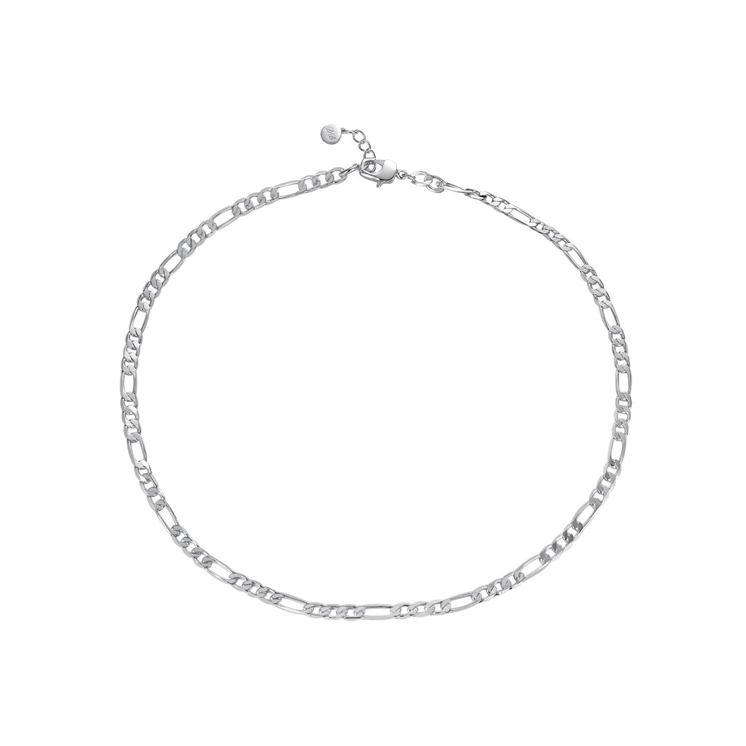 Francis Chain Necklace Rhodium