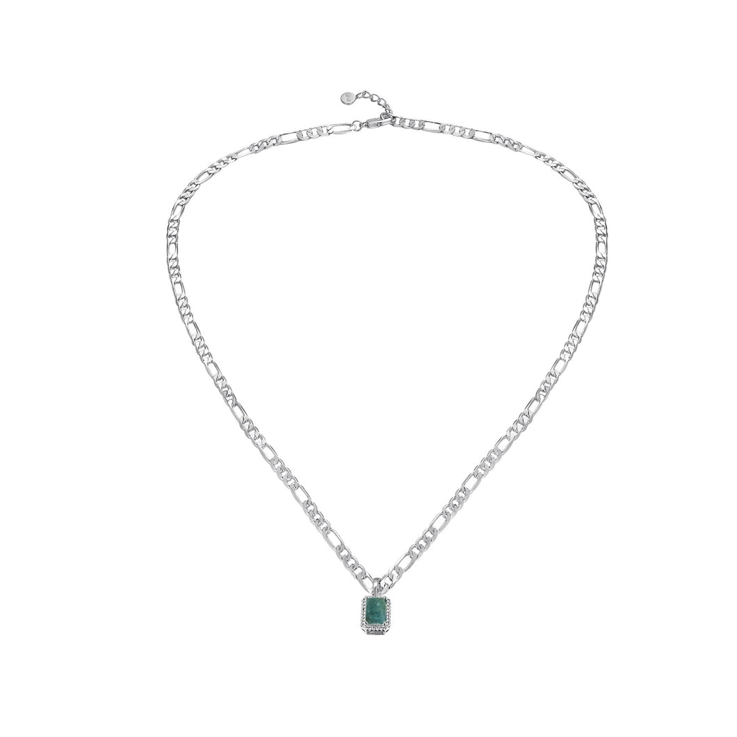 Natalie Charm Necklace Aquamarine