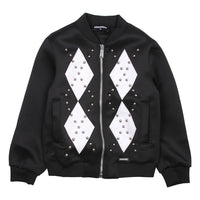 DSQUARED2  BOY ZIP SWEATSHIRT BLACK