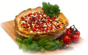 Quiche Paprika-Feta-Bacon