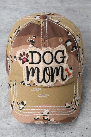 Desert Camo Dog Mom Cap