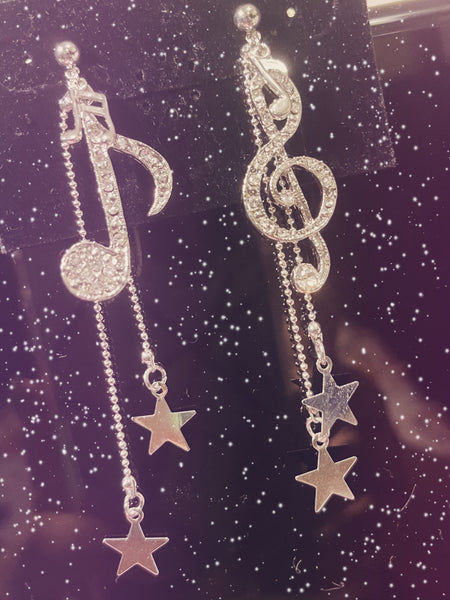 Music & Stars Drop Earrings