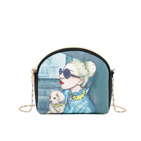 Lady with a Dog Crossbody Bag