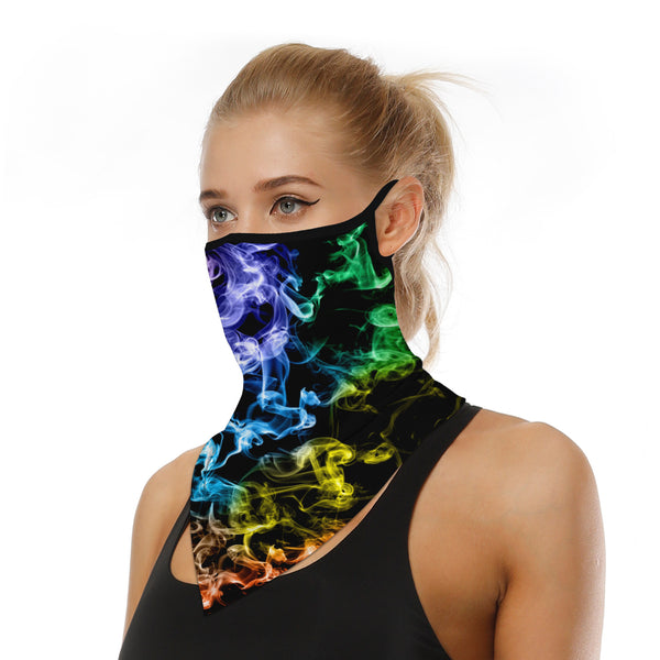 Colorful Smoke Neck Face Cover
