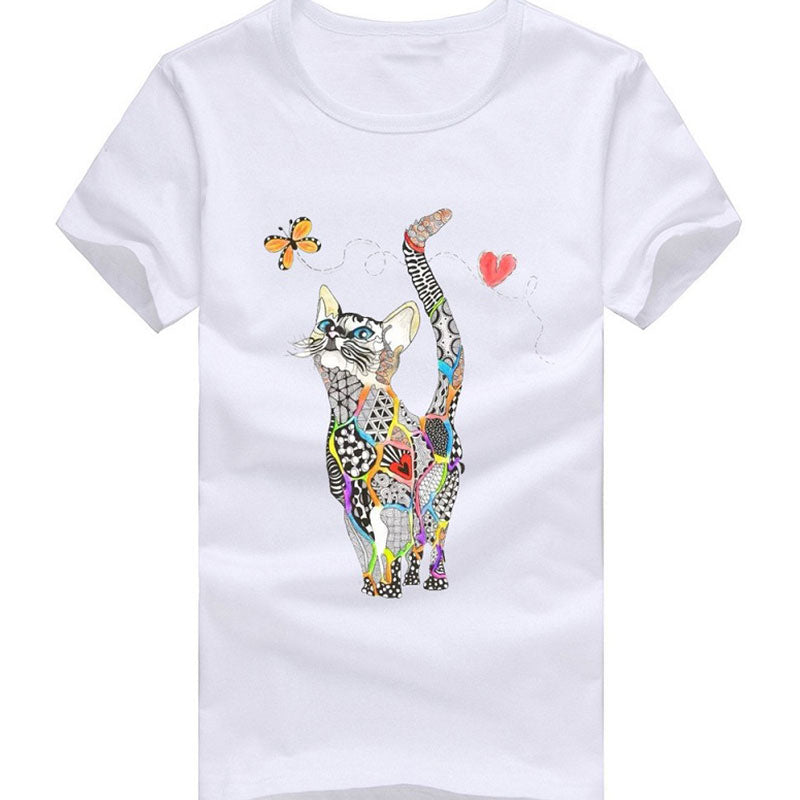 Colorful Cat T-Shirt