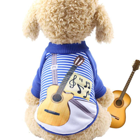 Pet Musical Guitar Sweater