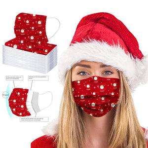 Christmas Santa Disposable Face Cover (10 Pack)