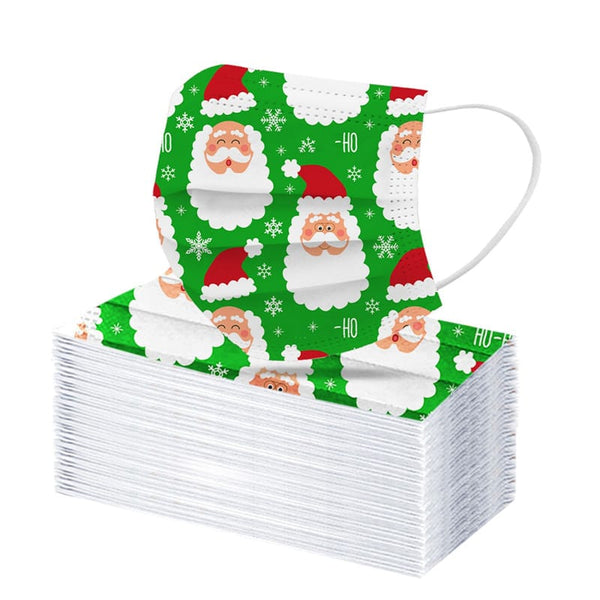 Christmas Santa Beard Disposable Face Cover (10 Pack)
