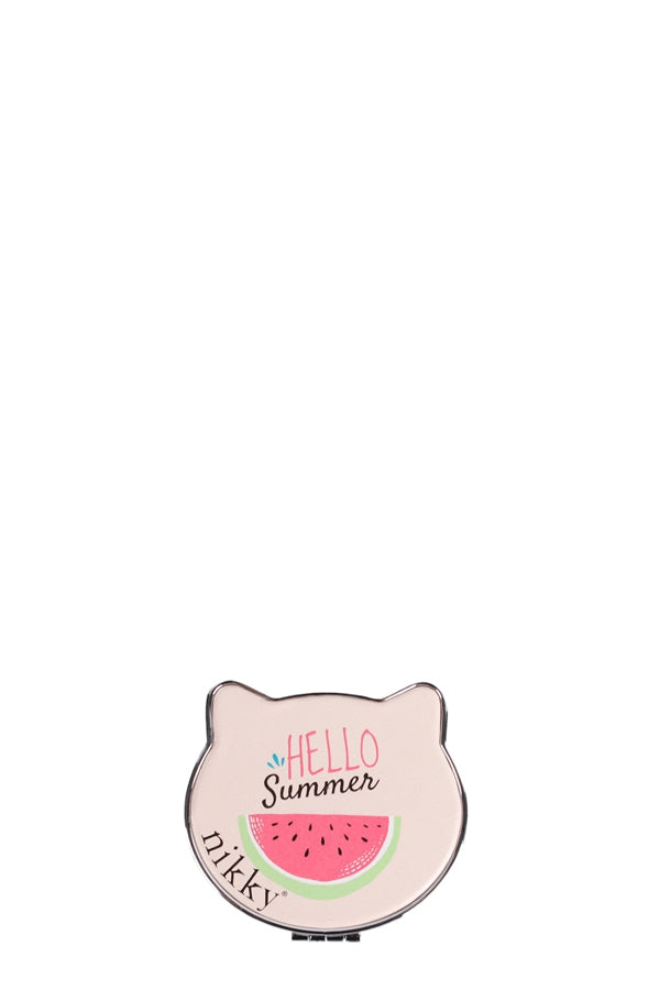 Hello Summer Cat Shape Cosmetic Mirror