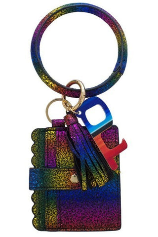 Rainbow Wrist Keychain Card Holder and No-Touch Key