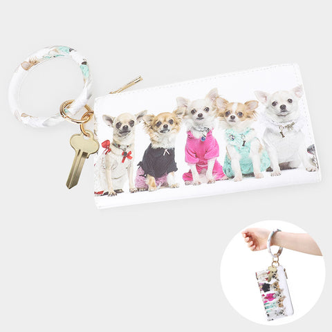 Chihuahua Fashion Dogs Keychain Pouch