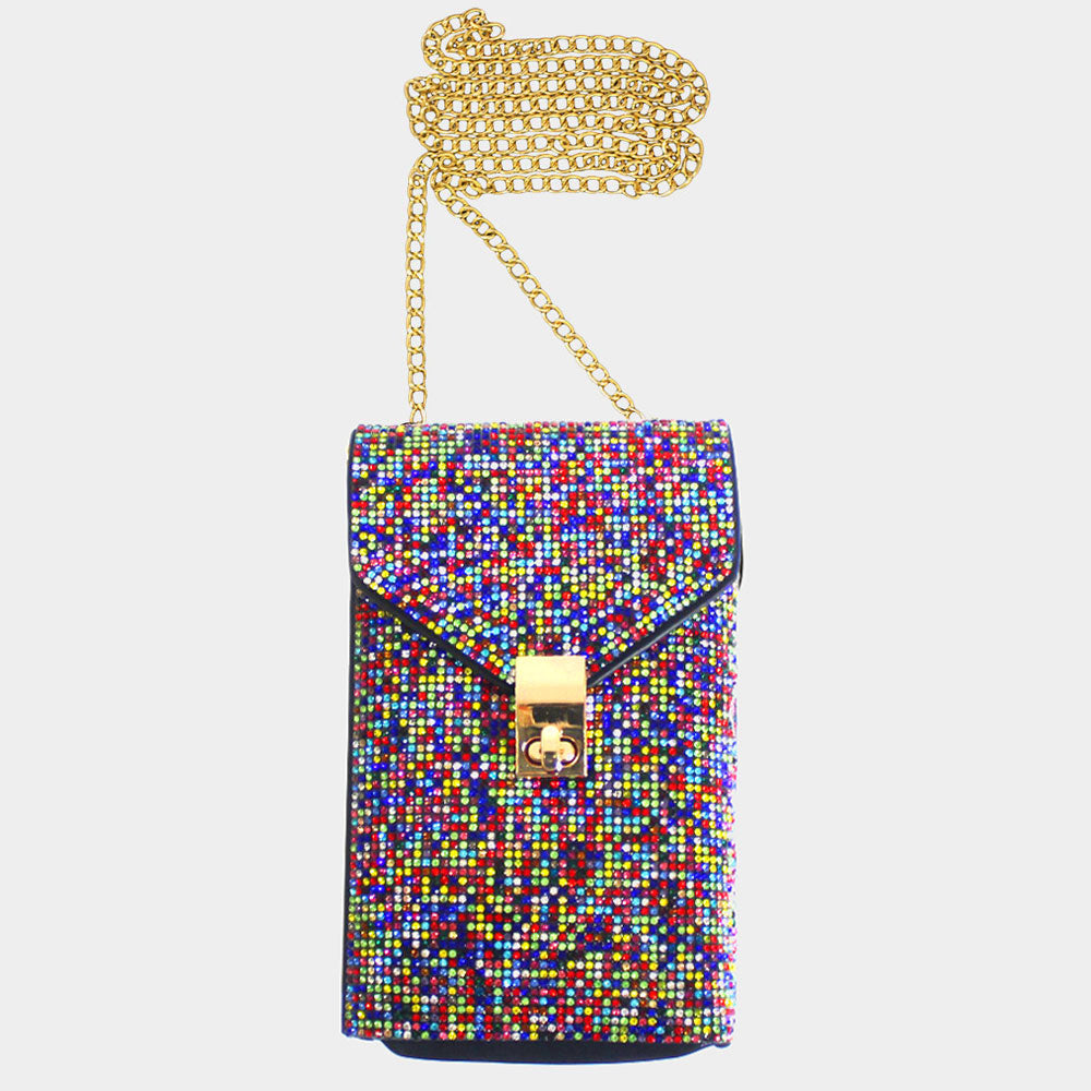 Colorful Rhinestones Crossbody Bag