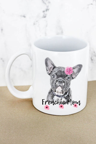 Flower Frenchie Mom Mug