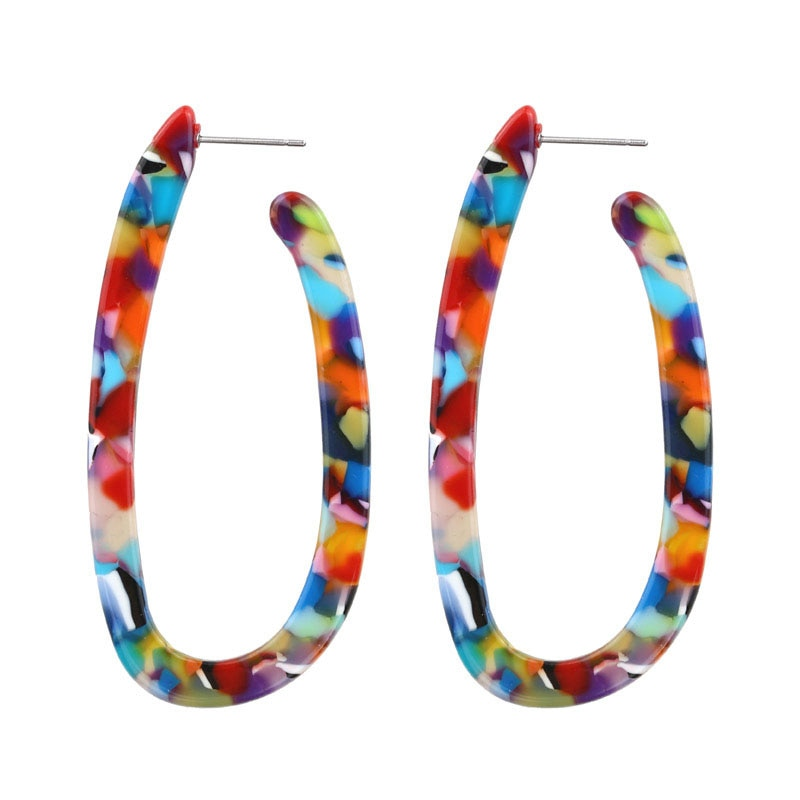 Colorful Hook Earrings