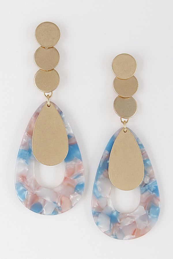 Drop Pastel Colors Earrings