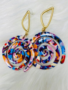 Psychedelic Spot Earrings