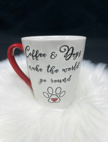 Coffee & Dogs Make the World Go Round Mug