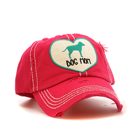 Heart Dog Mom Cap