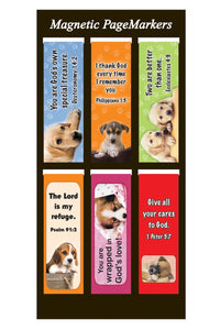 Dogs & Bible Verses Magnetic Markers (Set of 6)