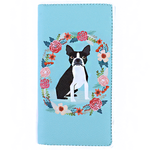 My Boston Terrier Flower Wallet