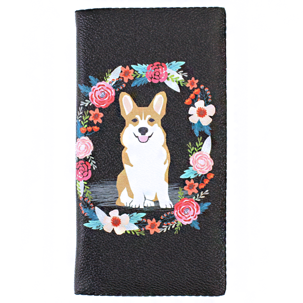 My Corgi Flower Wallet