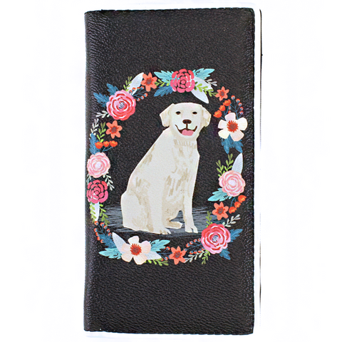 My Labrador Flower Wallet