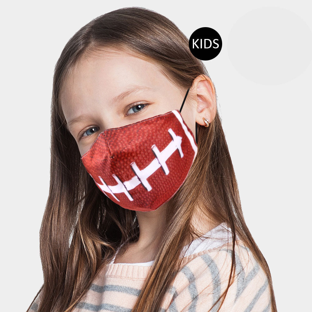 KIDS Football Face Adjustable Cover (Filter Pocket and 1 Filter Included)