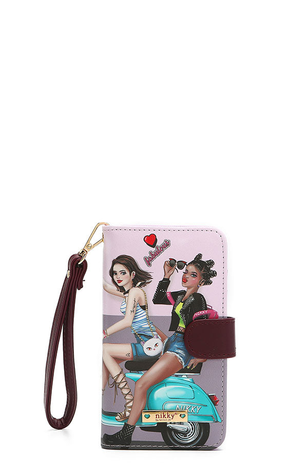 Love Ride with my Cat Crossbody Phone Wallet